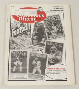 Sports Collectors Digest 243rd issue, September 16, 1983, vol. 10 no.19 football
