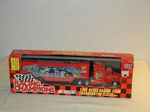 Nascar Cartoon Network #29 1:64 Race Car Transporter Racing Champions 1997 White