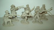 Six color matched pebble Conte Collectibles Alamo playset Defenders in six poses