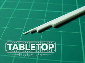 ABS Styrene Plastic Square Rod Bar Strip Modeller 0.5/1/1.5/2mm Width