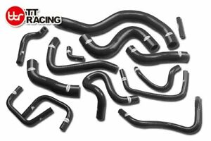 Radiator Heater Silicone Hose Kit Pipe FOR NISSAN Skyline GT-R R35 Black 14 piec