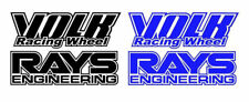 Volk racing Rays Wheel decals Stickers x8, RWB, hellaflush, speed star, work