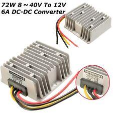 DC Voltage Stabilizer 8-40V to 12V 6A 72W Car Power Supply Regulator Waterproof