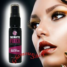 W7 The MATTE FIXER Face Spray Long Lasting Make-Up Fixer Setting Hydrate Skin