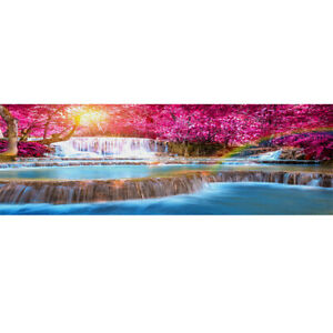 DIY Full Drill 5D Diamond Painting Embroidery Pink Tree for Home Decor 80*30cm