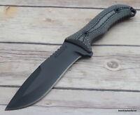 SCHRADE 6MM THICK BLADE HUNTING KNIFE FULL TANG MICARTA HANDLE & TACTICAL SHEATH