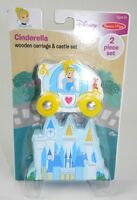 Melissa & Doug 2PCS Disney Cinderella Wooden Carriage and Castle Toys Brand New