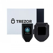 New Trezor model T GEN 2 hardware wallet with CryptoHWwallet Black leather case