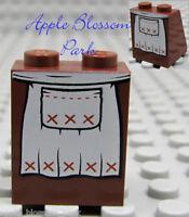 NEW Lego Female Girl MINIFIG SKIRT Brown White Apron Print -Princess Dress Slope