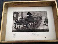 n.feli - 1960s etching ( london ) 25/30 signed with original frames