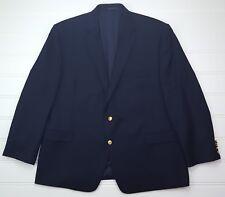 Lauren Ralph Lauren Blue Blazer 50R Navy Wool Gold Toned Metal Buttons Lined Man