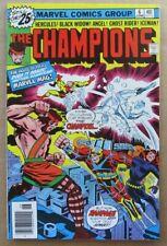 The Champions #6 Near Mint- Nm- 9.2 Black Widow Hercules Iceman Jack Kirby Art