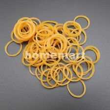 500PCS X Silicone Rubber Drive belt Pulley Model DIY 1.5mm X 19mm Yellow band HQ