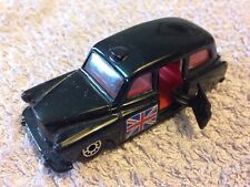 Matchbox FX4R Taxi with Red Seats and Union Jack on side of Taxi - Scale 1:60