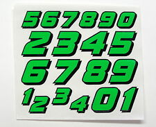 Racing Numbers Decal Sticker Sheet Mini Set FL Green Black 1/8 1/10 RC models