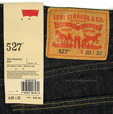 Levis 527 Jeans Mens New Slim Boot Cut Size 30 X 32 TUMBLED RIGID Levi's #1015