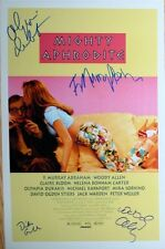 Woody Allen, Olympia Dukakis, F Murray Abraham signed Mighty 11x17 poster