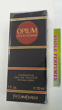 OPIUM POUR HOMME MEN YSL YVES ST LAURENT 1.0/1 OZ/30ML EAU DE TOILETTE EDT SPRAY