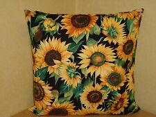 Sonnenblume Dekokissen Sommer Kissen Kissenhülle Baumwolle  Handmade Unikat