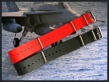 NEW Item 20mm Dark Grey SS NATO G10 Prem watch strap 2 pak RAF Bonded IW SUISSE