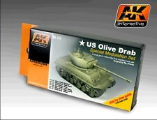 Ak Interactive AKI 131- Color Modulation Set- Olive Drab