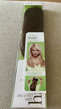 """HAIRDO CLIP IN HAIR BY JESSICA SIMPSON R830 Light Brown 22"""" Straight EXTENSIONS"""