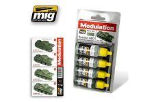 AMMO OF MIG A.MIG-7004 Acrylic Paint Set (4 jars) Russian 4BO Modulation Set