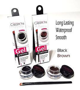 Waterproof Gel Eyeliner Beauty Creations Black/ Brown Gel Eye Liner- Long Lasing