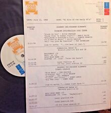 RADIO SHOW: 711/88 #1's EARLY 60's RICK NELSON, DEL SHANNON,JIMMY DEAN,4 SEASONS