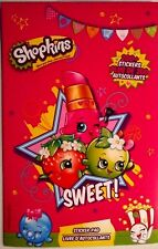 SHOPKINS - 4 Page Sticker Pad - Over 200 Stickers - FREE SHIPPING - NEW