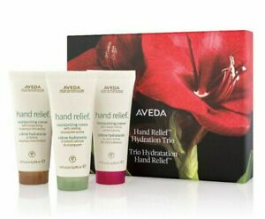 Aveda Hand Relief Travel Trio Gift Set 1.4 oz Shampure Cherry Almond Beautifying