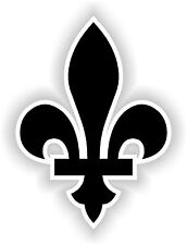 Fleur de Lys Sticker Coat of Arms Black Locker Hard Hat Laptop Tablet Fridge Car