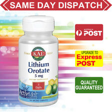 Kal Lithium Orotate 5mg 90 micro tablets MOOD STRESS SUPPORT - CALM RELAXED MIND