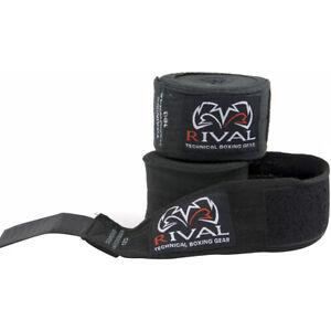 "Rival Boxing 200"" Traditional Cotton Handwraps - Black"