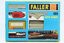 Faller H0 AMS 405 AUTO RAMPE slot car OK weisses Cadillac 60er Jahre OVP