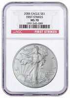 2006 1 oz Silver American Eagle $1 NGC MS70 FS First Strikes SKU20720