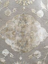 9x12 Rectangle Area Rug Traditional Silk Wool Knotted Gray