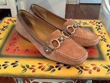 STYLISH NICKELS Solstice Flat Brown Leather Loafer SHOES 7M EUC