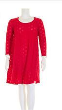 BORIS INDUSTRIES Kleid Tunika Lagenlook A-Linie Stretch Ausbrenner rot 46-48 (2)