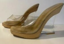 Jlo Lucite Wedge Shoes * Very Rare *