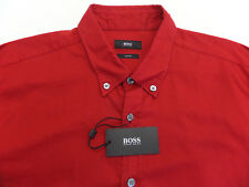 Hugo Boss Red Slim Fit Shirt LS Rod 50302390 629 Mens Size 2XL NWT $155