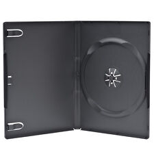 10 Premium Standard 14mm Black Single DVD Cases with Clear Overlay Holds 1 Disc