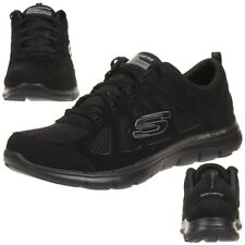 22cd9812b613b Ladies Skechers 12761 Flex Appeal 2.0 - Simplistic Lace up Trainers UK 7  Black