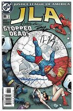 JLA 86 Signed by 4 DC Justice League Wonder Woman Superman Green Lantern Batman