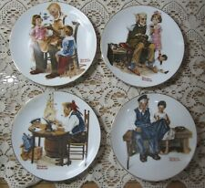Norman Rockwell Collector Plates Lot Of 4 Four Beloved Classics 1982 Excellent