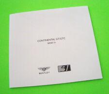 2009 BENTLEY CONTINENTAL GT/GTC CONVERTIBLE DLX PORTFOLIO 8 Color Plates nr-MINT