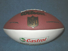 Wilson Nfl National Football League Composite Football Castrol Edge 1/2 White