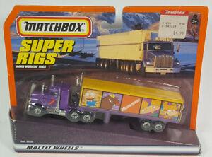Nickelodeon Peterbilt Matchbox Convoy Rigs Tractor Trailer Semi Truck Rare Vtg