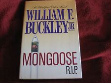 Blackford Oakes Mystery: Mongoose R. I. P.  William F Jr Buckley (1987 hd) signd