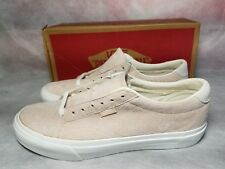 New Vans Court DX Pig Suede Silver Peony Pink White Skate Shoe Men 8 , Women 9.5